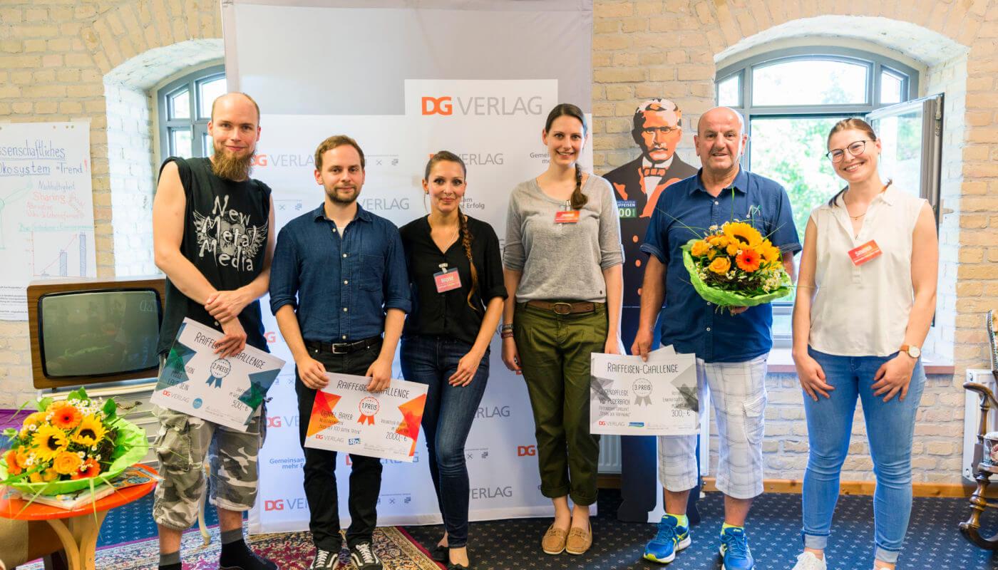 Raiffeisen-Challenge DG VERLAG Gewinner und Team